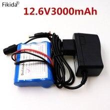 /Новинка 12 V 3000 mAh 18650 литий-ионная аккумуляторная батарея для камеры видеонаблюдения 3А батареи+ 12,6 V 1A зарядное устройство