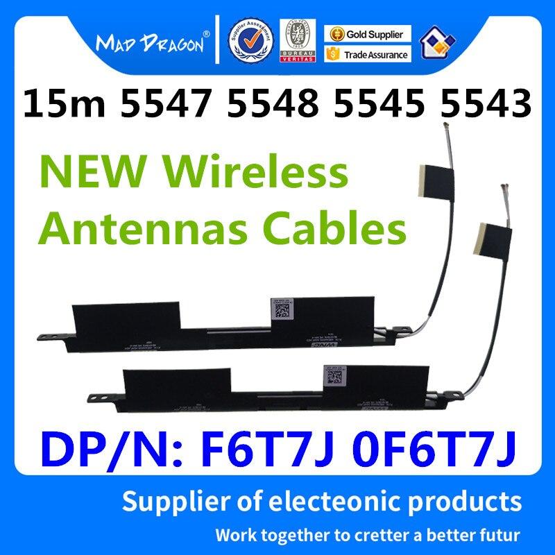 Novo portátil original embutido antenas sem fio wi fi para dell inspiron 15 5543 5547 5548 5545 antenas f6t7j 0f6t7j dc33001ij0l|Cabos de computador e conectores|   - AliExpress
