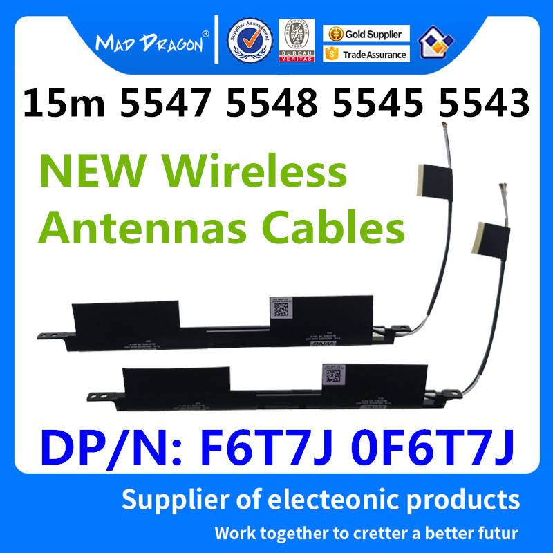 new original Laptop Built-in WiFi Wireless Antennas For Dell Inspiron 15 5543 5547 5548 5545 Antennas F6T7J 0F6T7J DC33001IJ0L