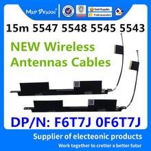 Novo portátil original embutido antenas sem fio wi-fi para dell inspiron 15 5543 5547 5548 5545 antenas f6t7j 0f6t7j dc33001ij0l