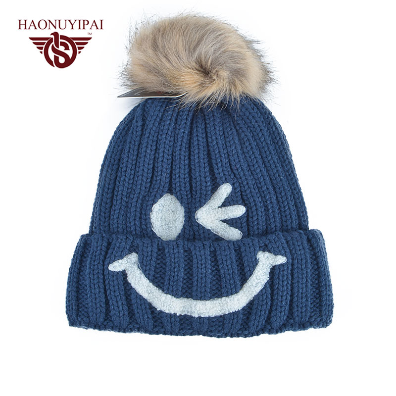 Autumn Winter Warm Hats For Women Ball Cap Pom Skullies Beanies Knitted Bonnet Cap Female Casual Hip-Hop Cotton Gorros Hat winter hats for women thick beanies gorros de lana mujer knitted wool skullies warm snapback hip hop cap bonnets en laine homme