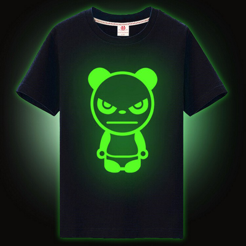 xiyu-brand-top-kids-t-shirt-boys-Childrens-T-shirt-for-girls-noctilucence-Luminous-t-shirt-boys-kids-night-shining-short-Tees-2