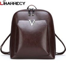 Famous Brand Leather Backpack Female Vintage Women Backpack Simple Large Capacity Travel Bag Leisure Shoulder Bags for Women Sac