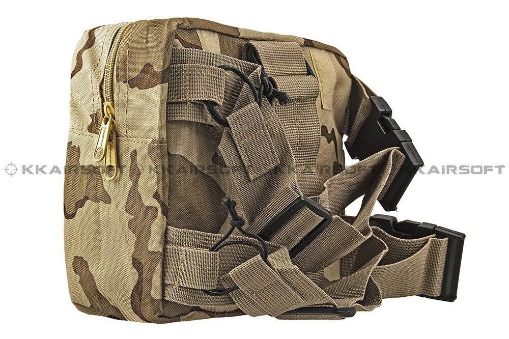 Молл военно-тактические талии мешок рюкзак падения нога Панель Утилита сумка [ph-04-cp песок камуфляж BK зеленый камуфляж]