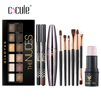 Cocute Makup Tool Kit 4 PCS Including Makeup Brushes Eyeshadow Eyebrow Pen Mascara And Highlighter Shimmer