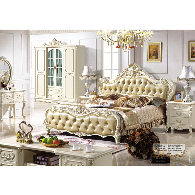 Italian Bedroom Furniture | Italian Bedroom Furniture Gold Luxury Antique Design Carved Wood Bed