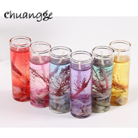 CHUANGGE Marine Crystal Jelly Candles Gel Wax Candle Romantic Celebrate Birthday Party Wedding Decoration Home Decoration