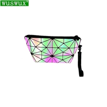 new fashion Luminous PU cosmetic bag women make up bag casual travel makeup case beauty bag organizer toiletry kit pouch шпаргалка по жилищному праву isbn 9785409006792
