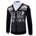 2017 New Arrvial Cardigan Men Autumn Fashion Design Deer Black Single Breasted Sweater Jacket Men Casual Brand Men Clothes Xxl