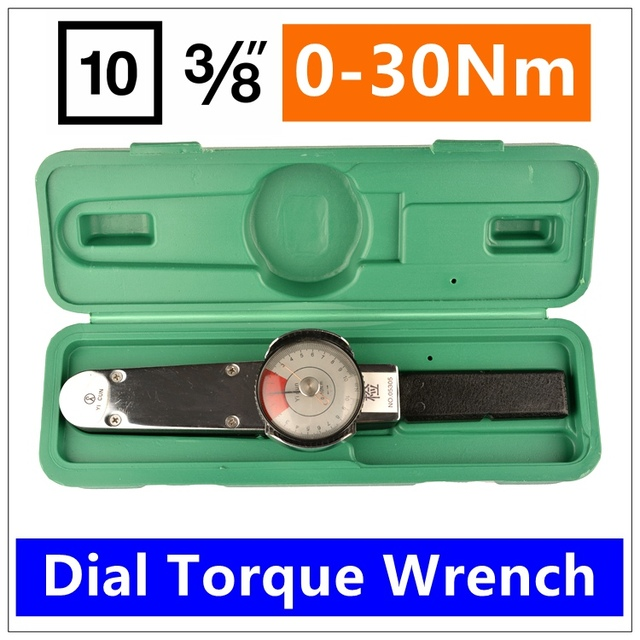 Mxita  3/8 0-30NmDial torque spanner High-precision pointer torque wrench hand tools