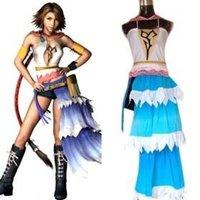 Anime Final Fantasy Cosplay Final Fantasy XII Yuna Women's Performance Costume Halloween Cosplay Costume Freeshipping