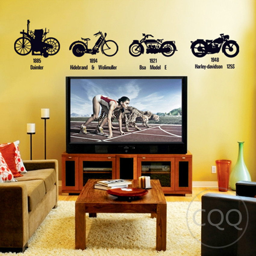 vintage motocross stickers motorcycle wall sticker home decor diy ...