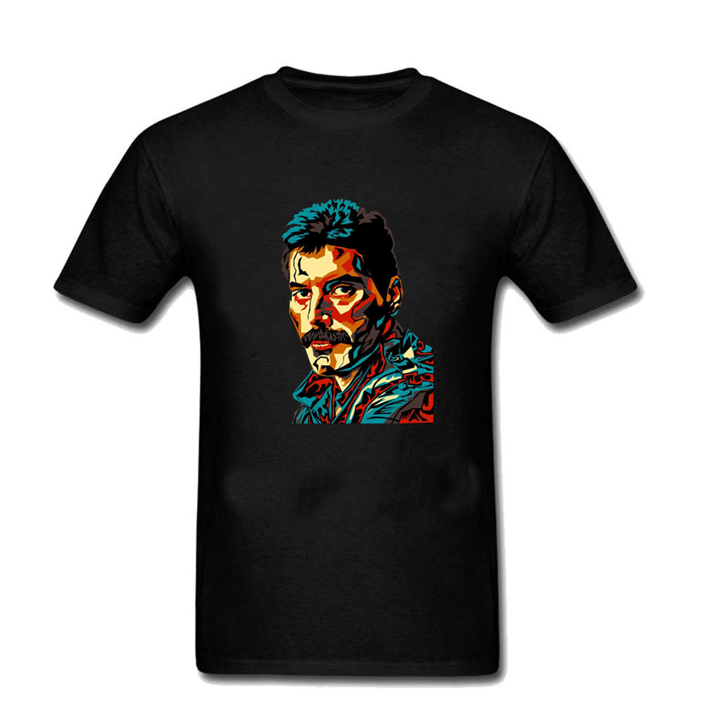 T-shirts Men's Clothing Nice Men Mans Printing Freddie Mercury Queen Band Tee Shirt Custom Short Sleeve Boyfriends Tshirt For Men