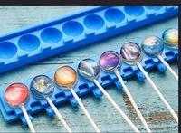 Commercio all'ingrosso/dettaglio, trasporto libero, 10 foro Starsilicone lollipops stampo/Cristallo 3D lecca-lecca gelatina budino stampo strumenti di cottura