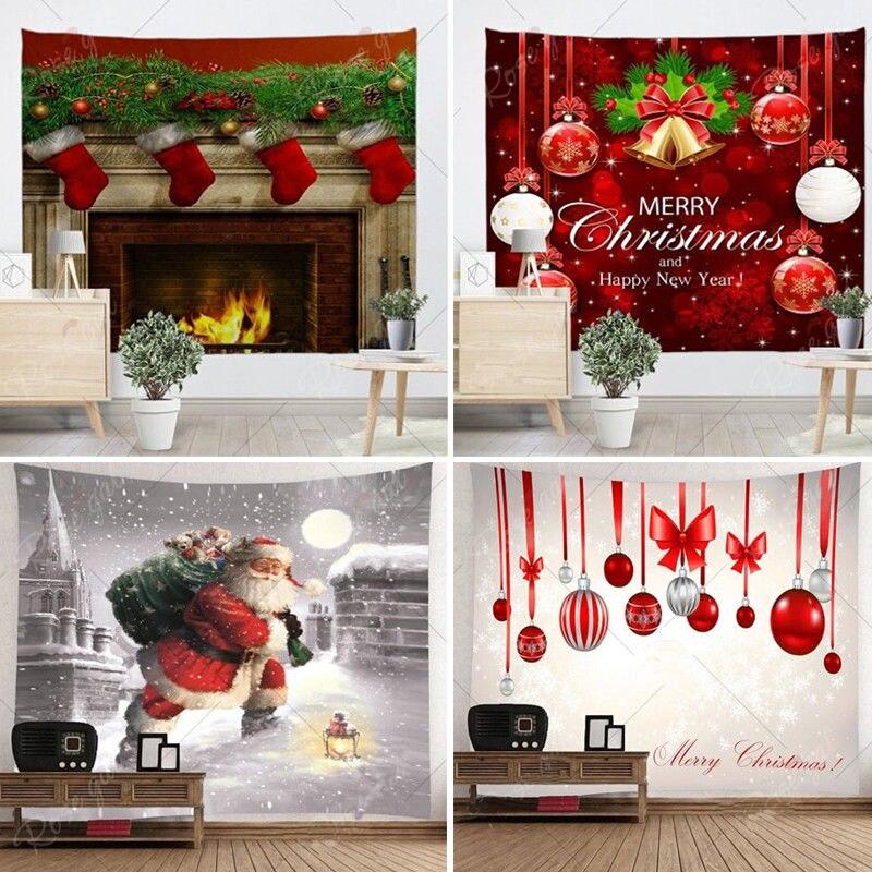 Holiday Wall Decor: Xmas Art Home Wall Hanging Tapestry Wall Ornamentation