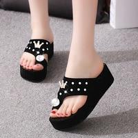 Slippers Women 2017 Fashion Summer Brand Shoes Slides Sandals Beach Party Home Male High Platform Flip