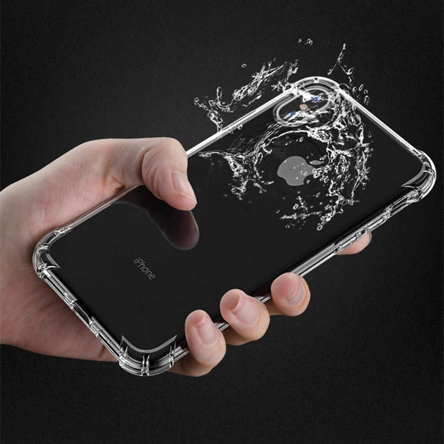 سوبر مضاد للخبط سيليكون واقية ل فون X حالة غطاء TPU لينة الهاتف خزائن هاتف آيفون 7 5 5 s 6 6 s 7 8 زائد XS ماكس XR حالة