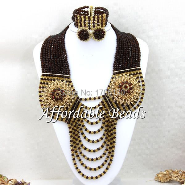 Free Shipping African Wedding Beads New Fashion Jewelry Beads Set ABW077Free Shipping African Wedding Beads New Fashion Jewelry Beads Set ABW077