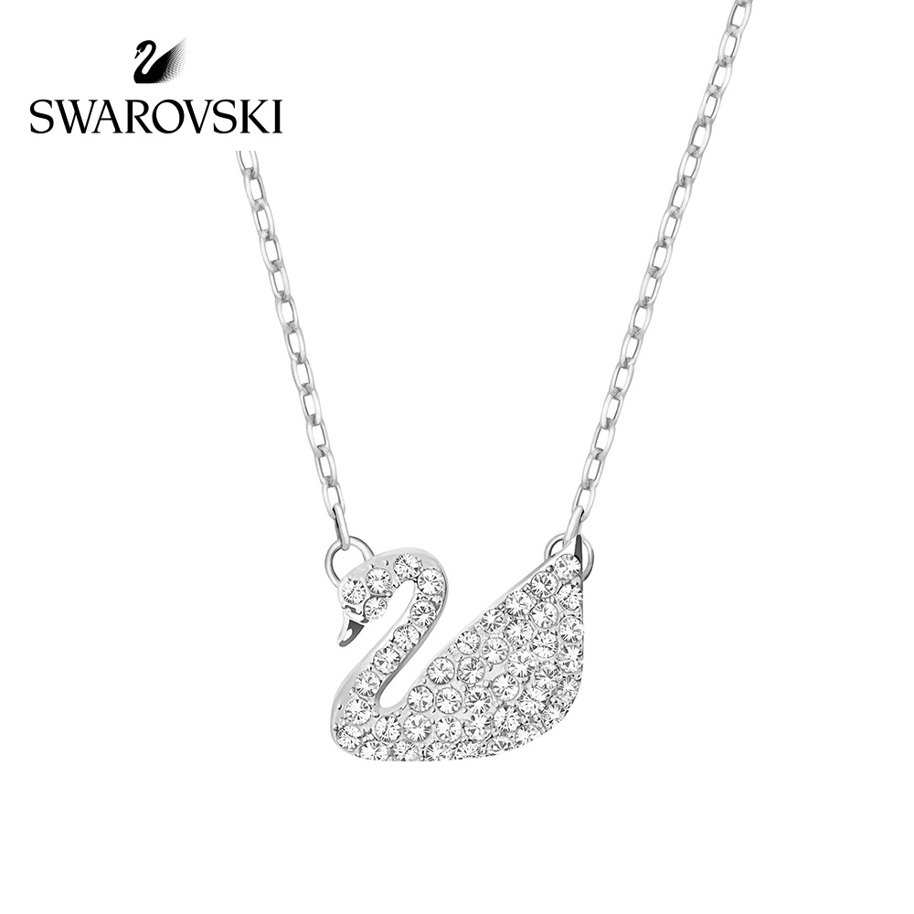 Original Genuine Swarovski Swan Pave Pendant Necklaces womens Crystal Necklace Choker Necklace 5187404Original Genuine Swarovski Swan Pave Pendant Necklaces womens Crystal Necklace Choker Necklace 5187404