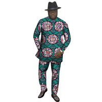 African Clothes Sets Tradition Design Men Tops+Trousers Set Fashion Printing Cloth Festive Costume Africa Clothing Customized