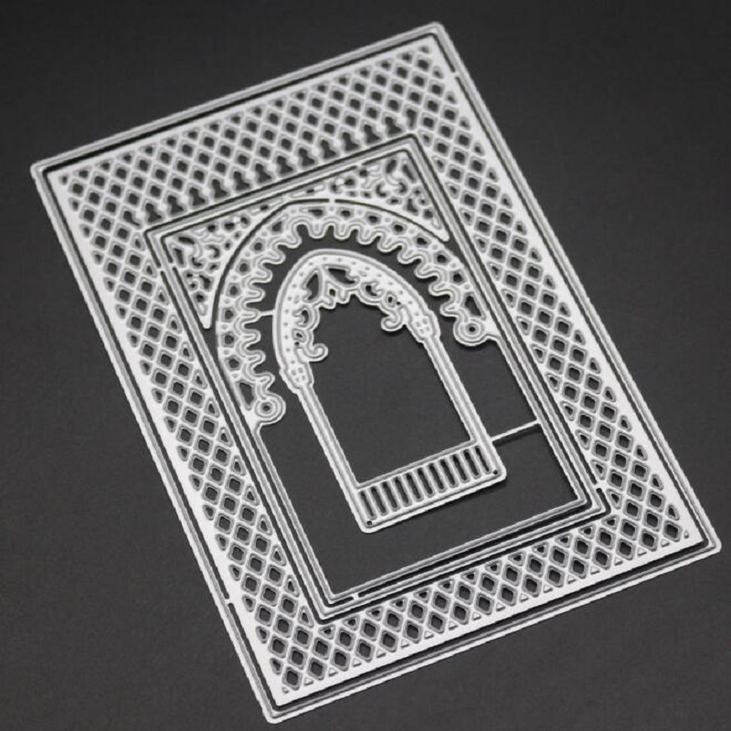 Rectangle window metal cutting frame dies for scrapbooking birthday card DIY making decorative emboss stencils stamps and dies in Cutting Dies from Home Garden