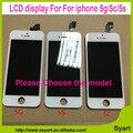 100 pçs/lote atacado grade aaa de alta qualidade testados lcd screen display com toque digitador assembléia black & white para iphone 5 5g