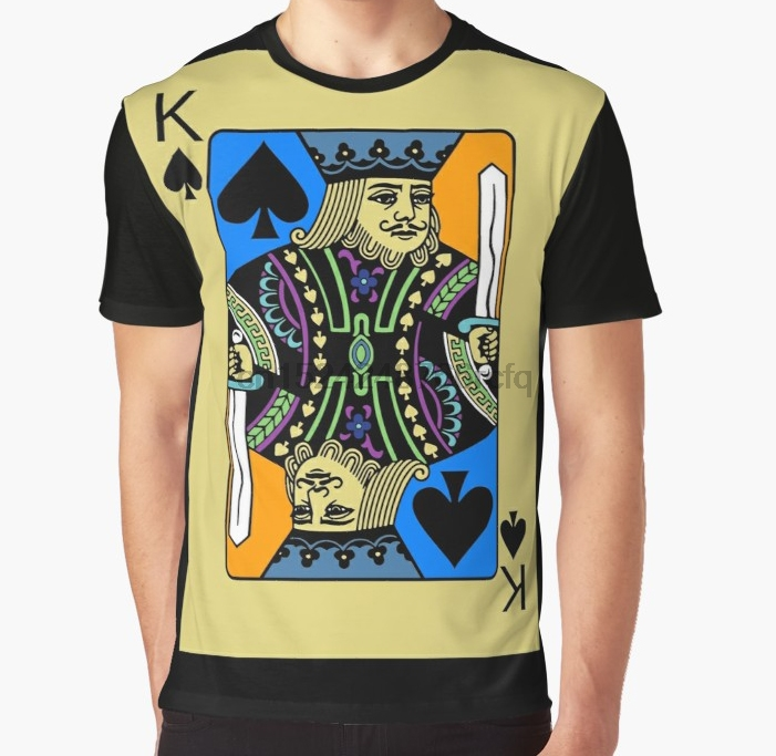 Tops & Tees 2019 Hot Sale New Mens Party King Spades Card Game Love Alcohol Funny Novelty Banksy Man T-shirt Xl Summer Fashion