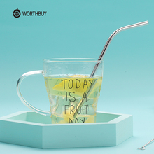 ФОТО worthbuy 3 pcs/set 304 stainless steel metal drinking straw eco-friendly reusable straws with cleaner brush kitchen accessories