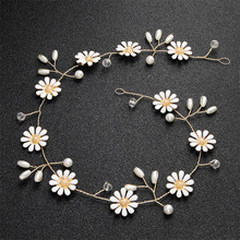 New Daisy Hair Band With Pearl Fashion Bride Headpieces Wedding Dress Accessories For Women Gift