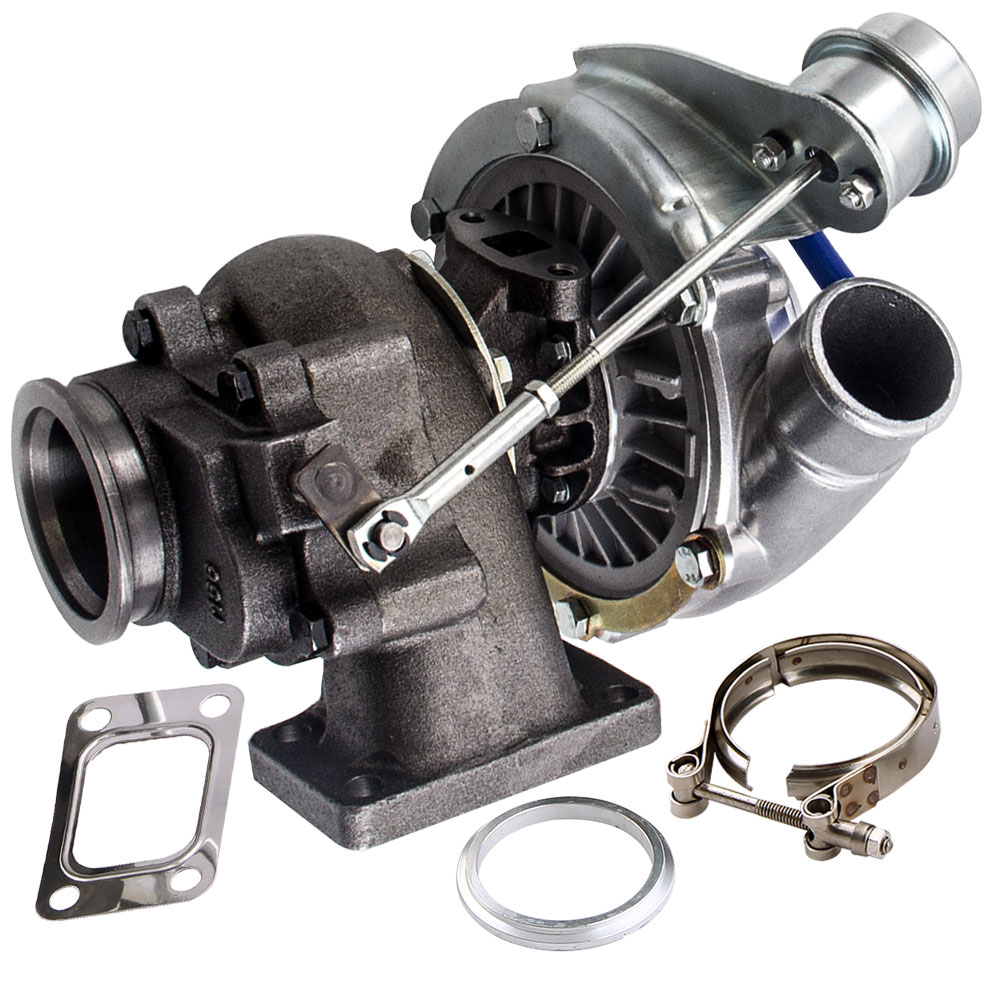 Fit T3 T4 T04E Universal Turbo Charger 420HP Turbine 0.63 A/R 4 bolts Flange D42 TD42T1 for 4 6 Cyl 420HP VR6 A/R.5 A/R.63