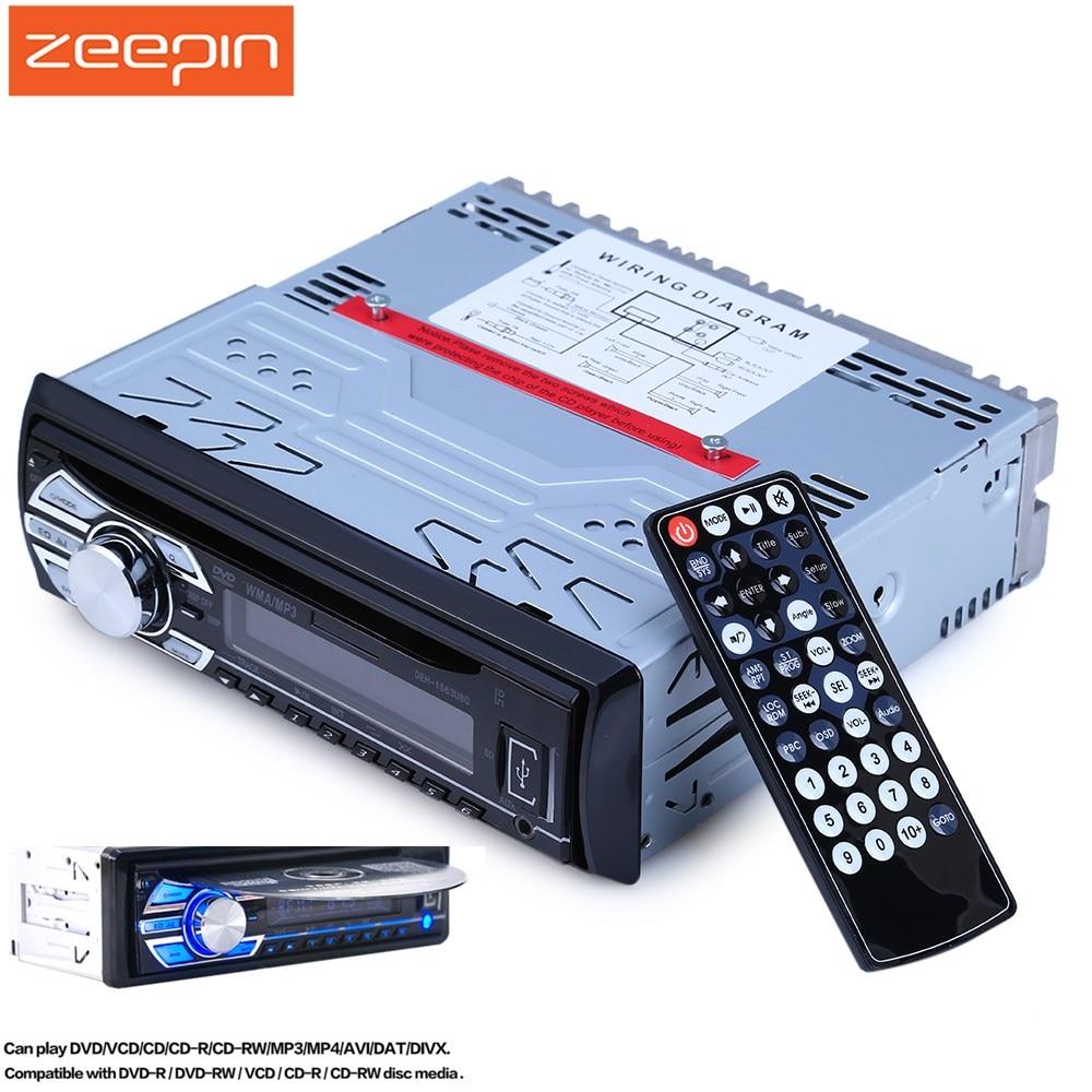1563U 1 DIN 12V FM Autoradio Car Radio Stereo MP3 Player LCD Digital Display Support SD