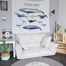 High Quality Whales Wall Tapestry Cover Beach Towel Throw Blanket Picnic Yoga Mat Home Decoration Textiles