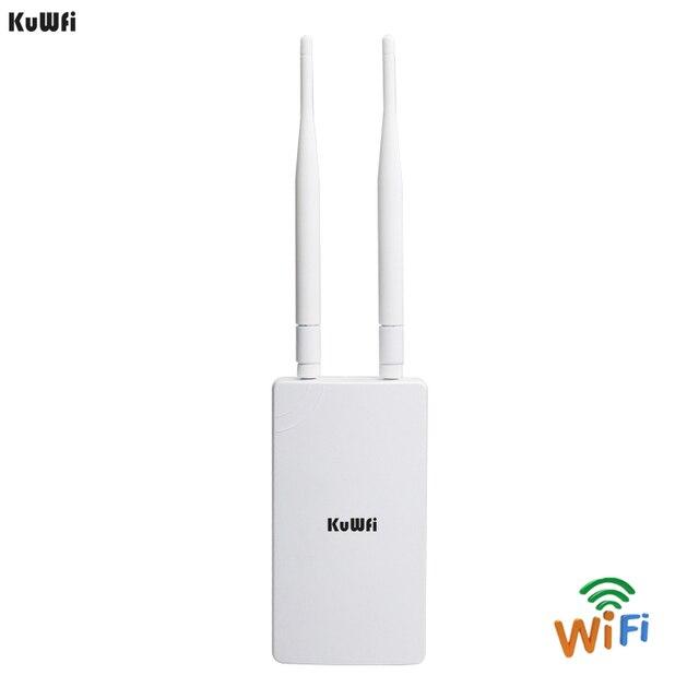 "KuWFi 300 Mbps נתב אלחוטי כיסוי 1-2 ק""מ אלחוטי חיצוני CPE נתב & Wifi מהדר רשת גשר גישה נקודת עם 48 V POE"