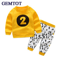 2015 Newest Children S Clothing Set T Shirt Pants 2pcs Set Autumn Baby Boy S Suit