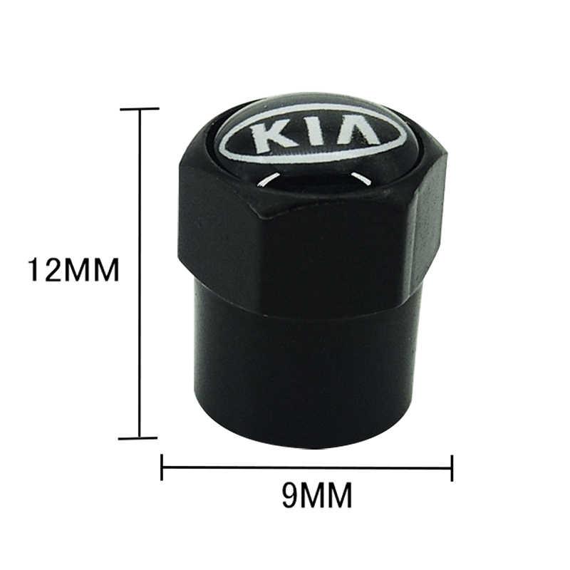 4 قطعة سيارة التصميم جديد المعادن عجلة الاطارات صمام قبعات الجذعية الحال بالنسبة لكيا K2 K3 K5 سورينتو سبورتاج R ريو الروح غطاء اكسسوارات السيارات