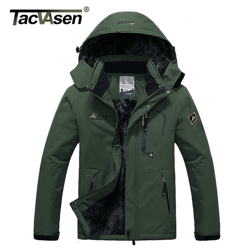 TACVASEN kış erkek ceket su geçirmez kapüşonlu polar ceket ceket giyim erkek rahat ceket termal rüzgarlık artı boyutu 6XL