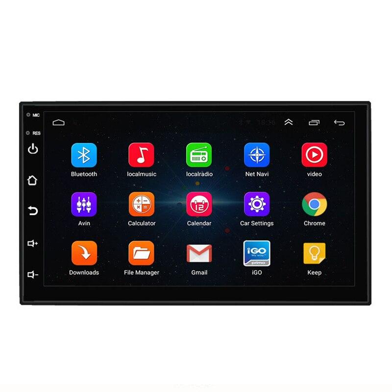 2 autoradio multimédia Wifi 7 pouces lecteur voiture Android 6.0 GPS Navigation Bluetooth pour Nissan VW Toyota Peugeot