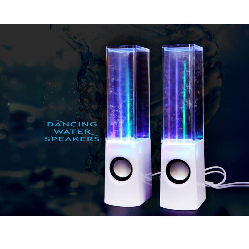 Dancing Water Fountain Music Sound Novelty Light LED Portable Audio Active Speaker Gift Lamp Desk Night Light