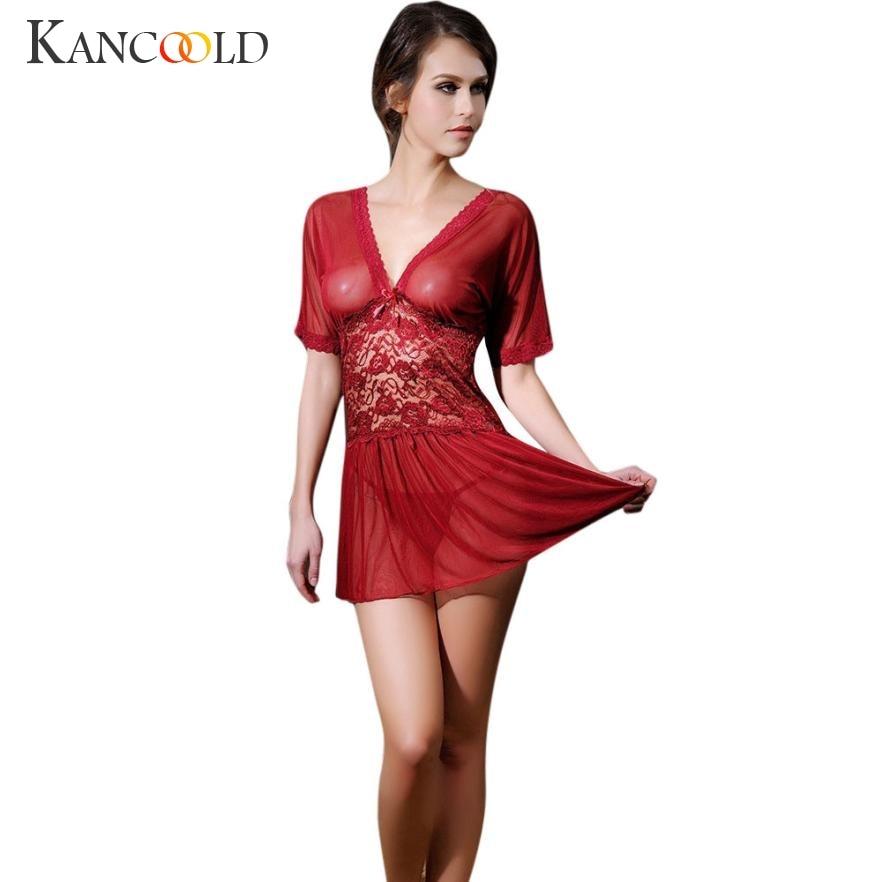 Fashion female sexy ladiestemptation transparent lace nightgown underwear new arrivel