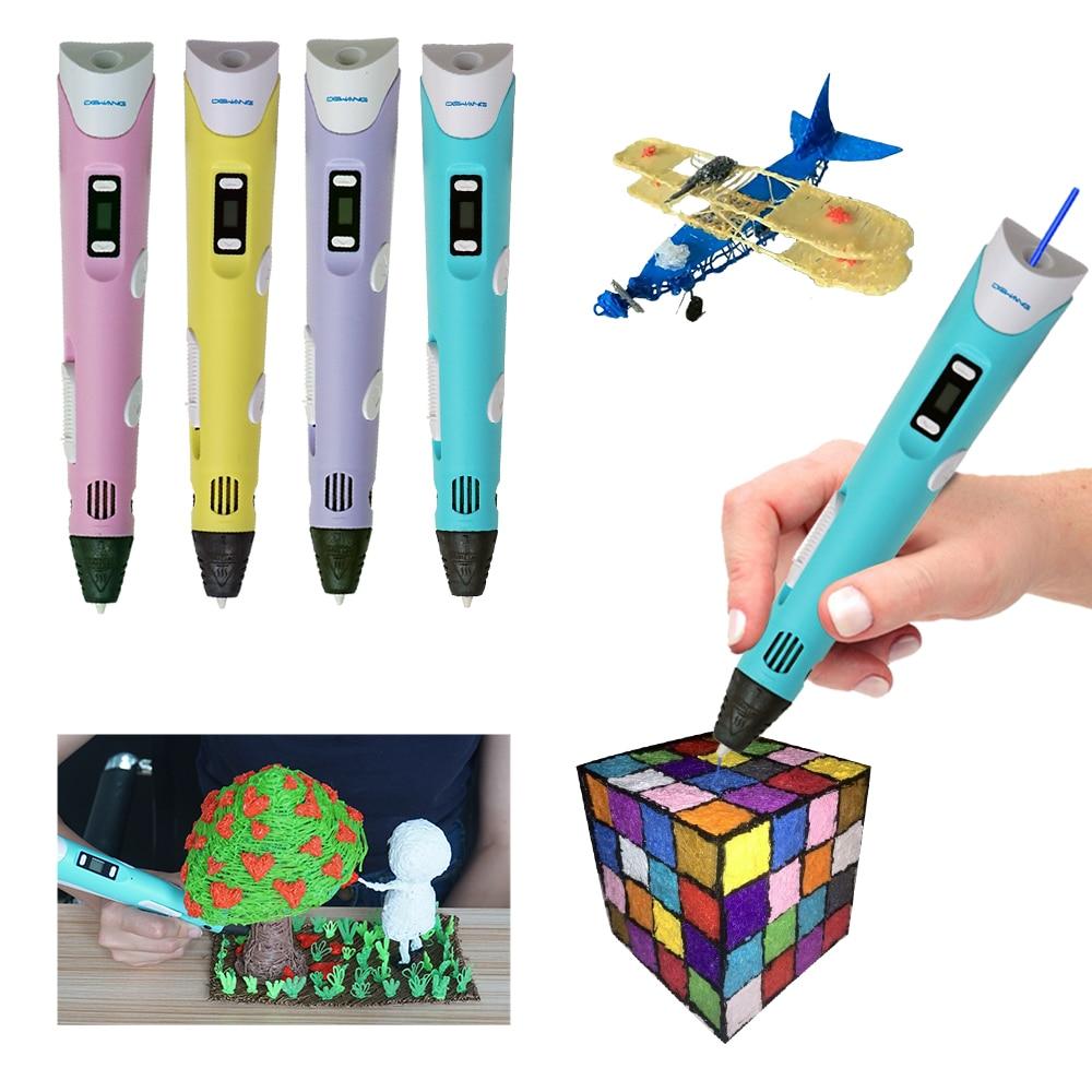DEWANG Factory 3D Printer Pen Drawing Designs For Kids Gifts 3D Pens+100M ABS Filament 3D Printing Pens