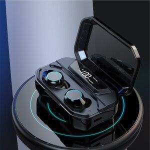 Image 3 - 最新の X6 Led ディスプレイワイヤレス Bluetooth イヤホンタッチ Contral ワイヤレスイヤフォンで 3300 mah 充電スマート電話