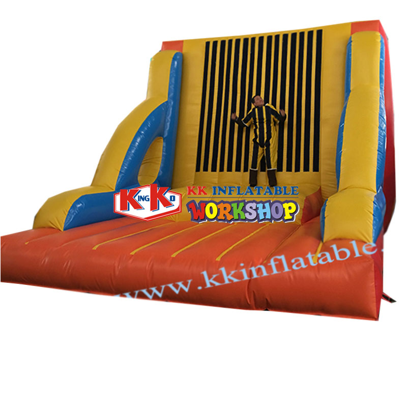 Magic Tape Wall With Jumping Suits Inflatable Sticky Jumping Wall
