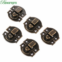 bowarepro 10Pcs Antique Hasps Iron Lock Catch Latches for Jewelry Chest Box Suitcase Buckle Clip Clasp Vintage Hardware 27*29mm metal hook box latches clasp box lock purse lock antique bronze 4 holes 27 23mm fast shipping 50 sets