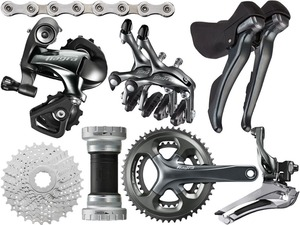 Image 1 - Shimano Tiagra 4700 Road bike bicycle Groupset Group 2x10 speed 170/172.5mm 52 36/50 34
