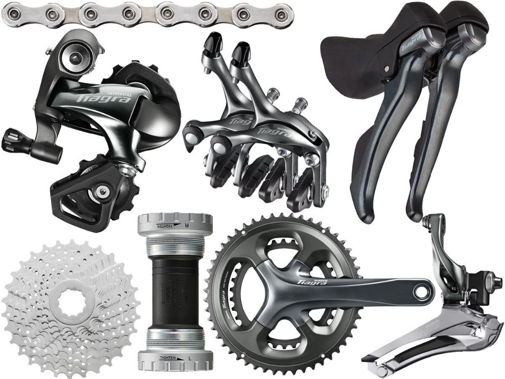 Shimano <font><b>Tiagra</b></font> <font><b>4700</b></font> Road bike bicycle <font><b>Groupset</b></font> Group 2x10-speed 170/172.5mm 52-36/50-34 image