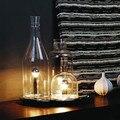 Стеклянная Бутылка Креативный СВЕТОДИОДНЫЙ Настольная Лампа 3 Огни Nordic Современная Мода настольная Лампа Для Спальни Кабинет Бар Свет Luminaria-де-меса