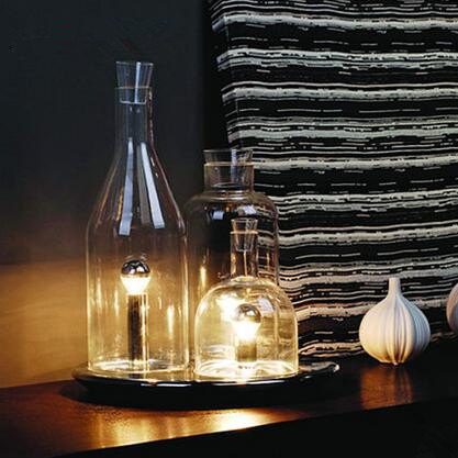 Glass Bottle Creative Led Desk Lamp 3 Lights Nordic Modern Fashion