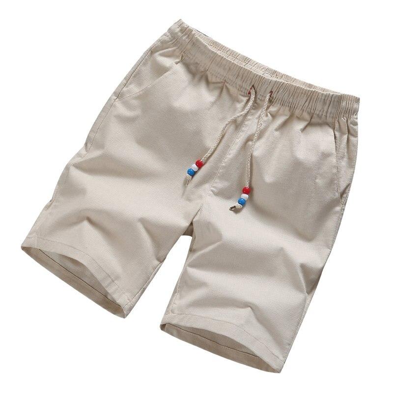 Men clothes 2018 Solid Men Shorts Plus Size 6XL Summer Beach Shorts Men Linen thin breathable Male Shorts Homme short masculino