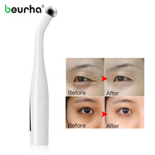 Electric Eyes Wrinkle Dark Circle Removal Massager Pen Anti Aging Massage Negative Ion Vibration Massage Tool forFace Lifting(China)