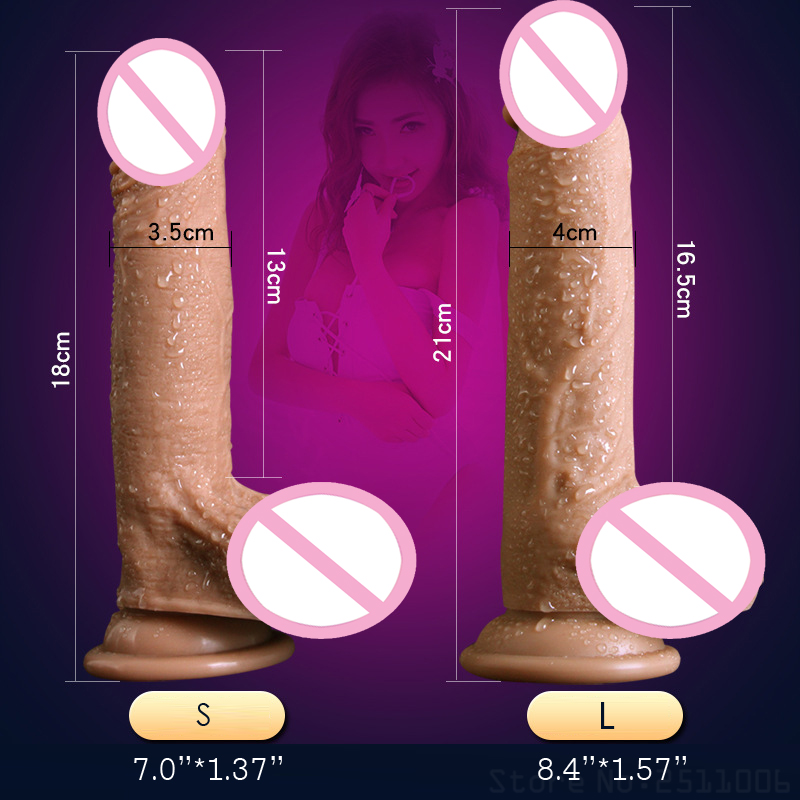 New Skin Feeling Realistic Penis Super Huge Big Anal Dildo with Suction Cup Sex Toys for Woman Sex Products Female Thick Dildo in Dildos from Beauty Health